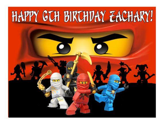 Ninjago Ninja edible cake image cake topper by CakesForCures
