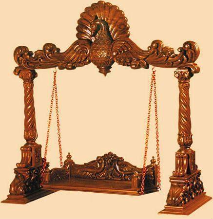 168 best wooden swings images on pinterest wood swing for Garden jhoola designs