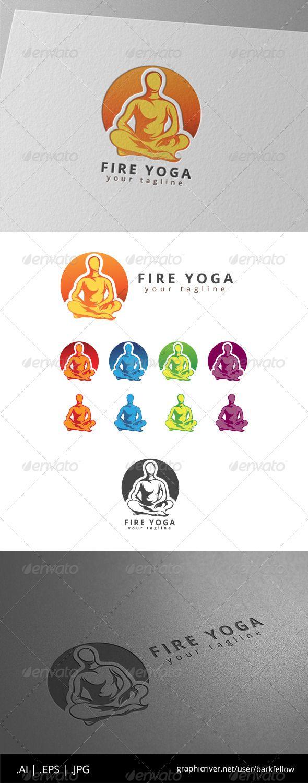 Fire Yoga Logo — Vector EPS #branding #nature • Available here → https://graphicriver.net/item/fire-yoga-logo/8646203?ref=pxcr