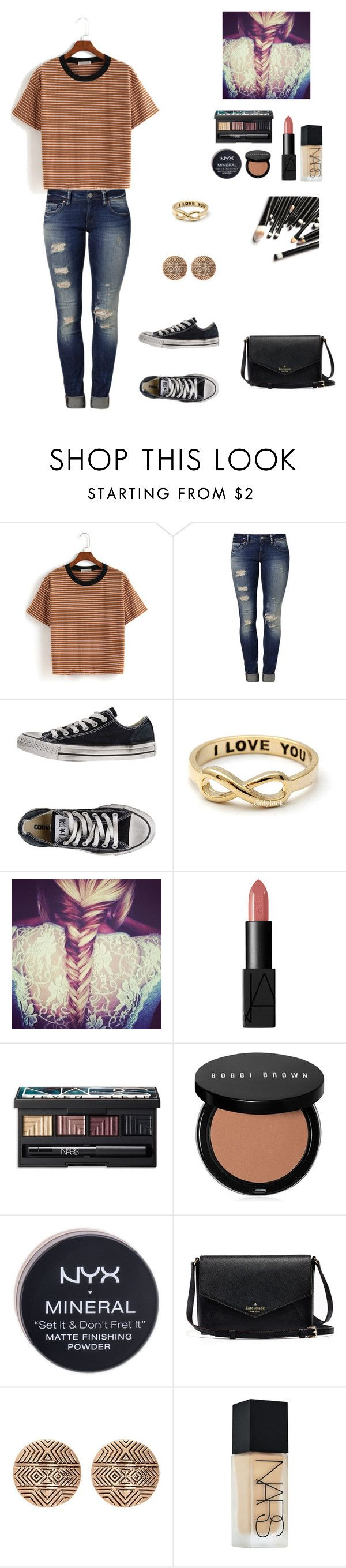 """Untitled No. 24"" by megan-113 ❤ liked on Polyvore featuring Mavi, Converse, NARS Cosmetics, Bobbi Brown Cosmetics, NYX and House of Harlow 1960"