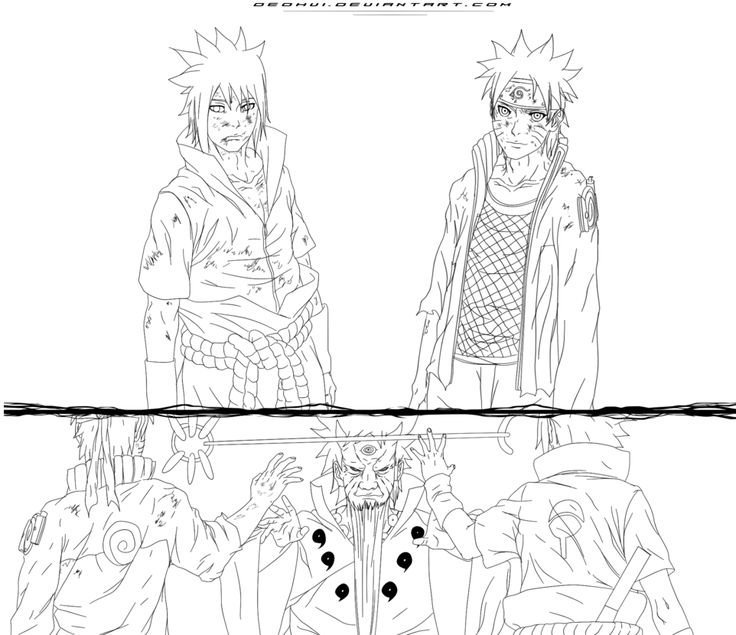 Pin by Billy on Anime coloring Sketches, Anime, Naruto