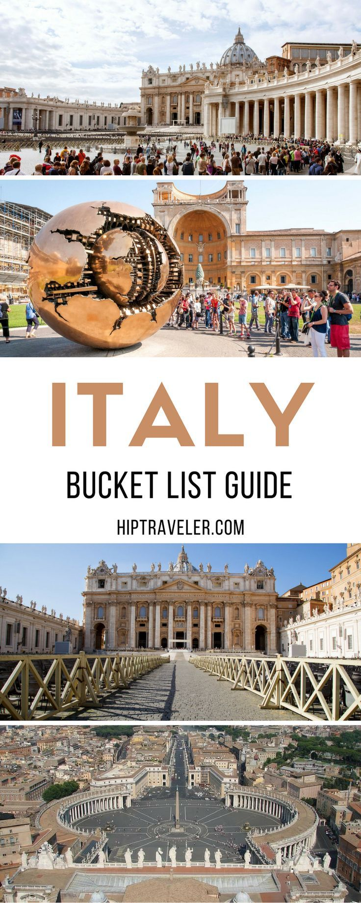 The ultimate bucket list guide to exploring Italy, from Rome to Venice and Burano to Pompeii and beyond. Travel in Europe. | Blog by HipTraveler #Italy #Europe