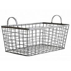 """Mand ijzer """"iron wire basket"""" 48x30,5x26,5cm"""
