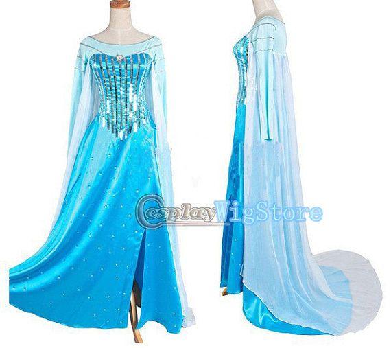 Frozen Costume Snow Queen Elsa Costume Princess by CosplayWigStore, $85.00