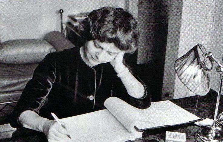 Italian author Elsa Morante (Rome, 1912-1985).