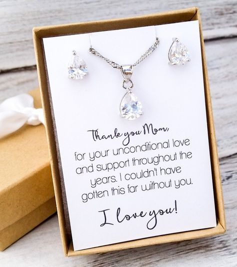 Mother Of The Bride Jewelry Set Wedding Ideas Bridal Party Gifts Pinterest Parties And