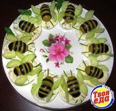 Очень красивая и просто не передать, какая вкусная закуска Удивительные пчелки!