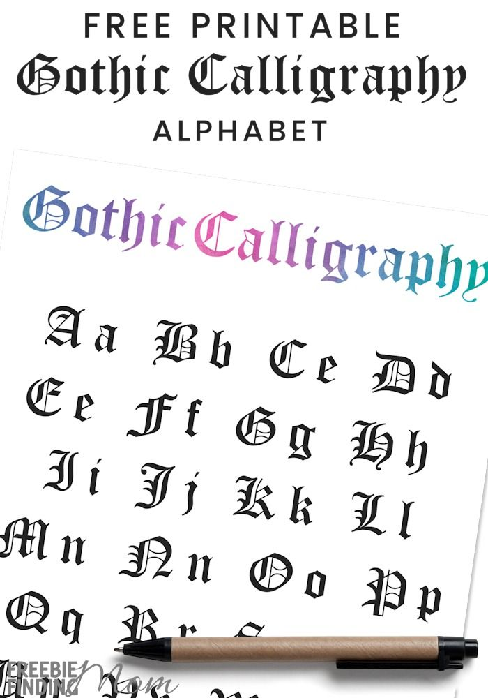 Blackletter / Gothic Calligraphy For Beginners (2019 ...