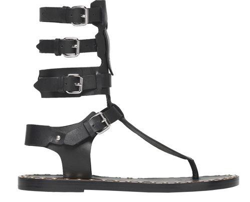 Shopping Mode Les 30 sandales de l'été 2015 : sandales montantes Jeepy en cuir noir Isabel Marant http://www.vogue.fr/mode/shopping/diaporama/les-30-sandales-mode-de-lete-2015/21052/carrousel