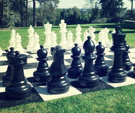 Convert your backyard into an intellectually stimulating environment with the giant chess set. The giant nylon mat sprawls out over an area of nine square feet and immerses you into a thrilling game of life sized chess like you've never experienced before.