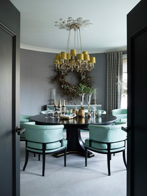 Hubert Zandberg Interiors Designed This London Pied A Terre As Contemporary Take On Traditional Gentlemans Club And In The Dining Room