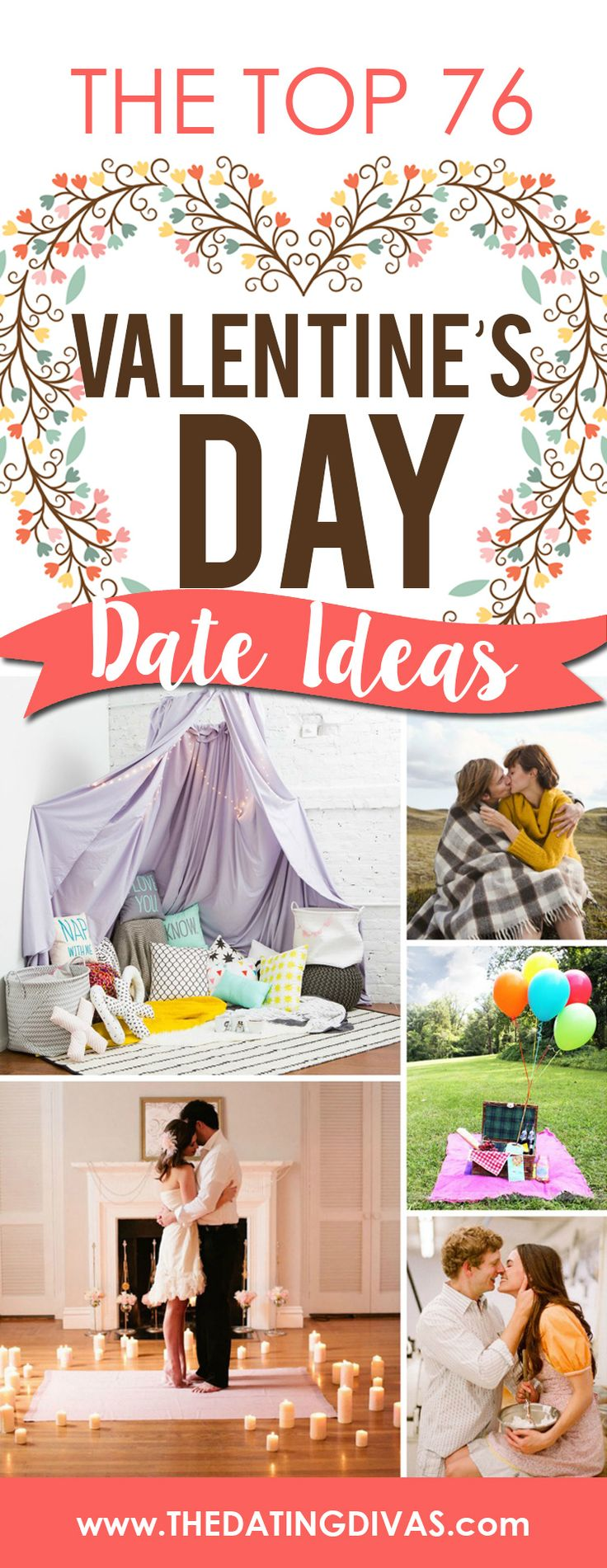 So much inspiration! Can't wait to use one of these Valentine's Day Dates this year! www.TheDatingDivas.com
