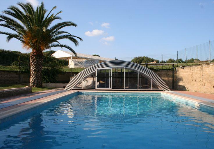 Stažitelné zastřešení bazénu UNIVERSE od výrobce kvalitních krytů na bazény, terasy a vířivé vany Alukovu