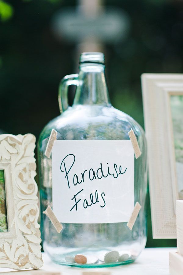 """So cute! A little jar for their honeymoon trip inspired by the movie """"Up"""""""