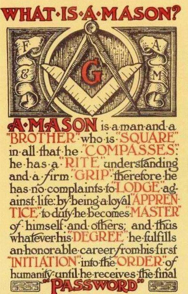 What is a Mason? Only REAL Men know the answer...
