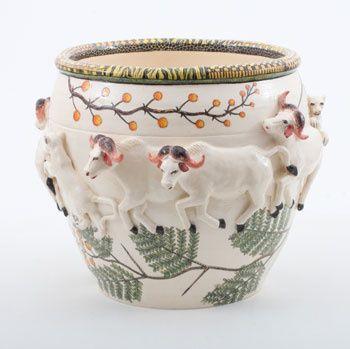 Ardmore Ceramics Buffalo Planter