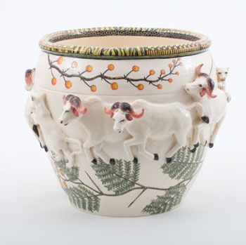 Ardmore Ceramics Buffalo Planter