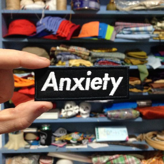 Anxiety / Embroidered / Badge / Patch by NewWoodsman on Etsy