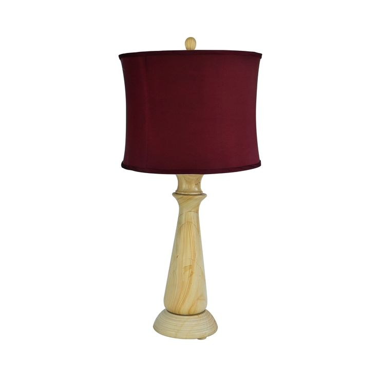 """Rembrandt Home 32"""" Tall Table Lamp """"Tolesto"""" with finish, Cherry Linen Shade"""