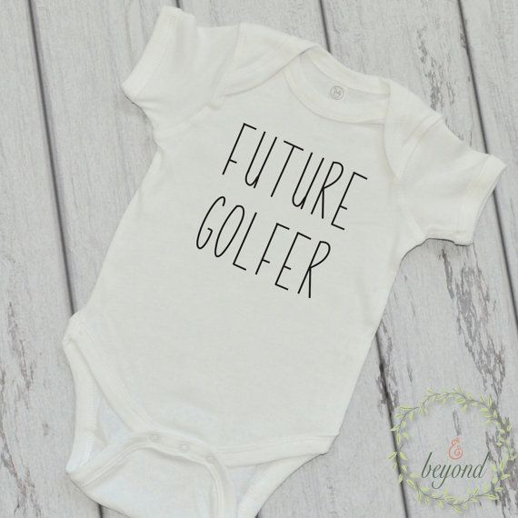 Baby Future Golfer Bodysuit Golf Tee Onepiece Golfer Tee Golf Apparel New Baby Golfing Gift Golf Dad Golf Baby Clothes by BumpAndBeyondDesigns