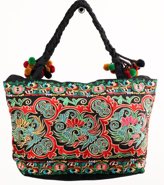 Kashmiri embroidery rectangle bag my love style part