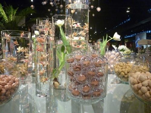 Tubos de Vidro e Orquídeas Mergulhas