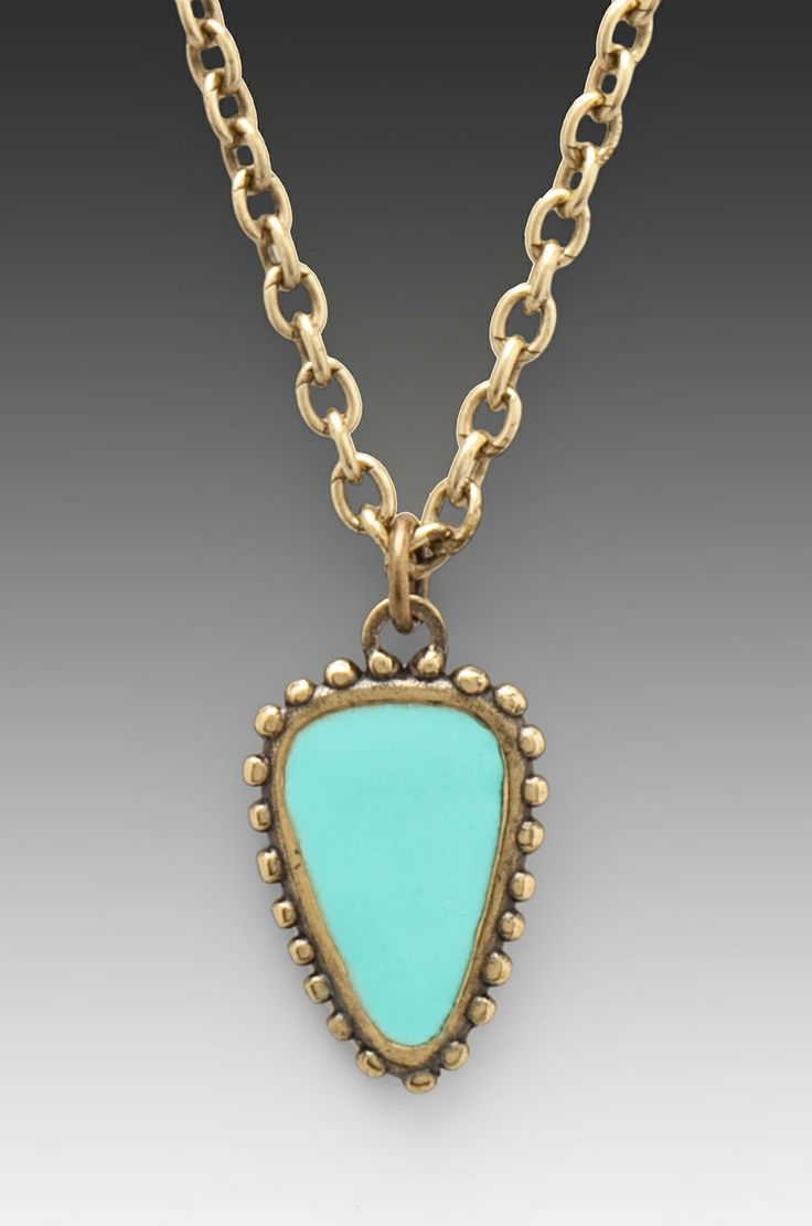 Dream Collective Arrowhead Amulet Enamel Small Pendant in Turquoise