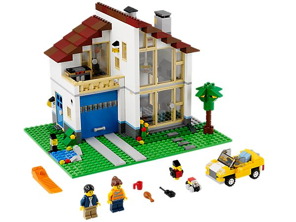 Build a 3-in-1 Family House and live in sleek LEGO® style!