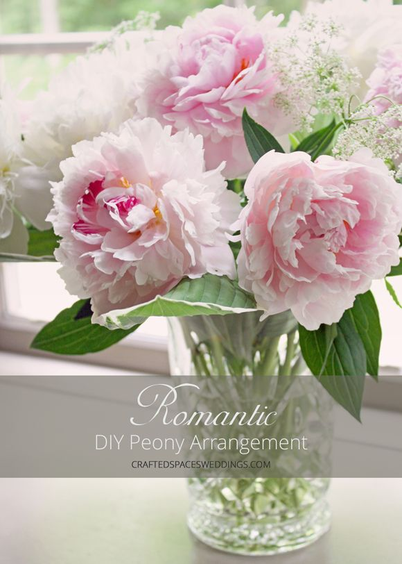 Crafted Spaces Weddings | DIY Peony Arrangement