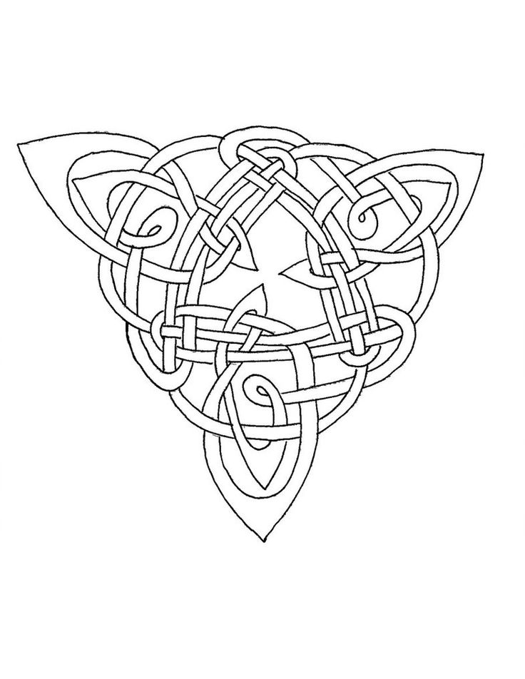 119 best silhouette images on pinterest silhouette for Celtic coloring page