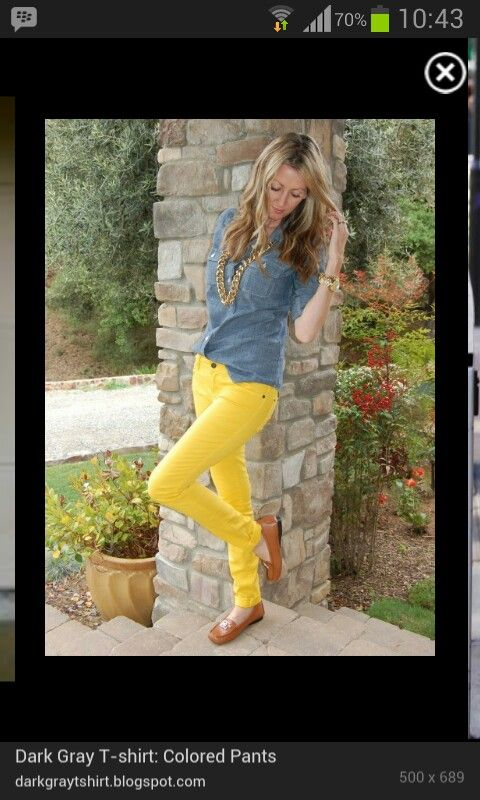 Yellow pants outfit