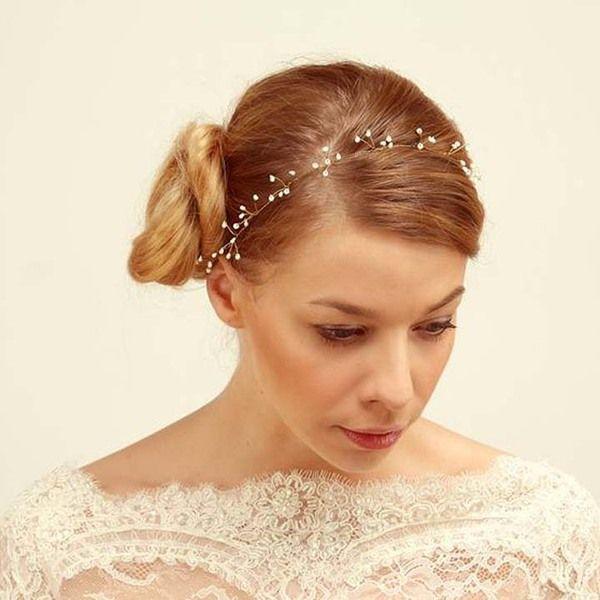 Opaska ślubna w umodystki na DaWanda.com Pearl Bridal Crown,Wedding Headpiece, Bridesmaid Headband