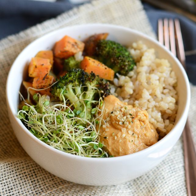 This vegetarian brown rice bowl is packed with superfoods and an easy meal prep idea to make a week's worth of lunches! As a food blogger, I get asked quite often what I eat in a day's worth ...