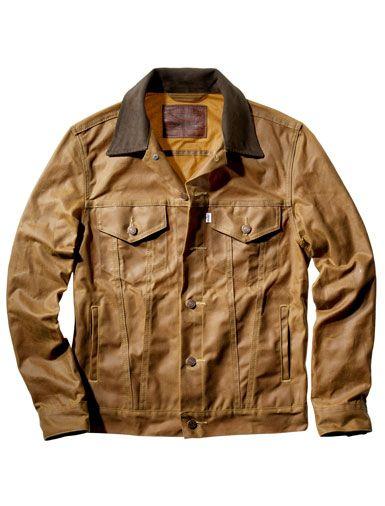 Waxed Trucker Jacket