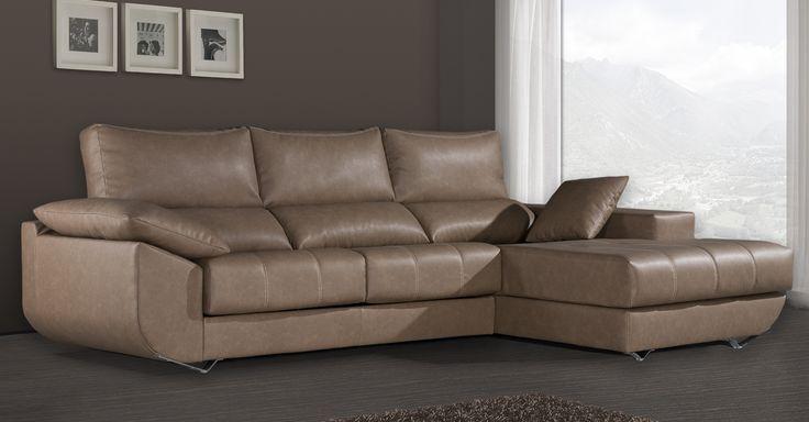 Sofá chaiselongue Leonardo. Seleccione orientación y tapizado y en pocas semanas podrá disfrutar de este sofá en su casa a un precio increible.