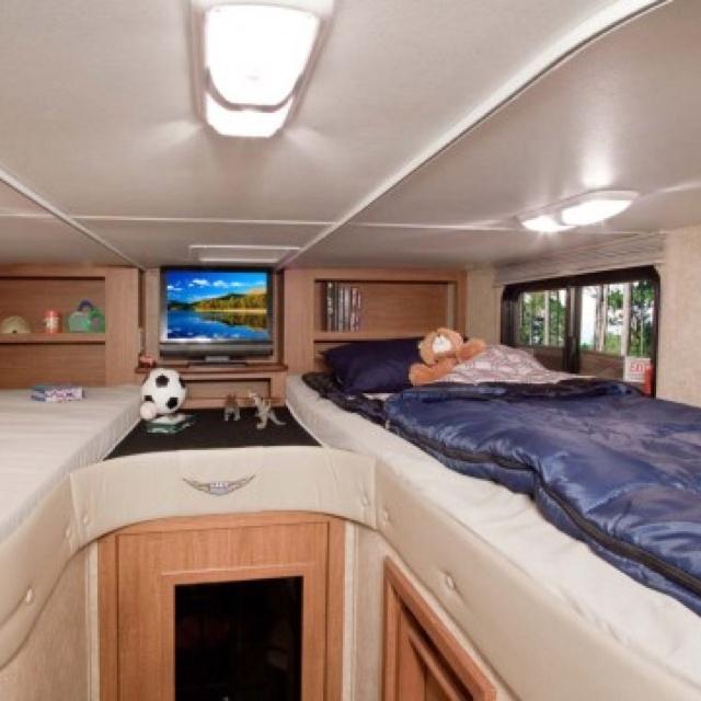 32 best camper images on pinterest campers camping for Rv loft bed