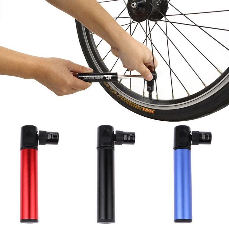 Portable Aluminum Alloy Mountain Bike Bicycle Mini Tire Air Pump Inflator JG1026