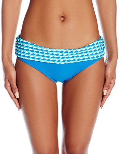 Curvy Kate Women's Atlantis Fold Over Brief, Deep Sea, 22. Hipster fit with fold over top, medium leg cut. Wide range of sizes available 8-22. Cute button detail on front. Matching bikini tops available in a mix and match selection. Extra life lycra.
