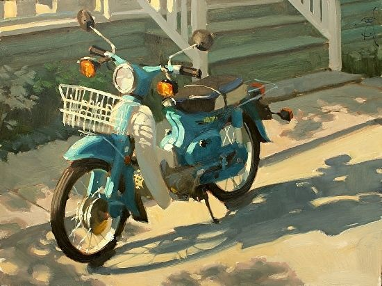 Jennifer Diehl - ScootScoot- Oil - Painting entry - March 2018 | BoldBrush Painting Competition