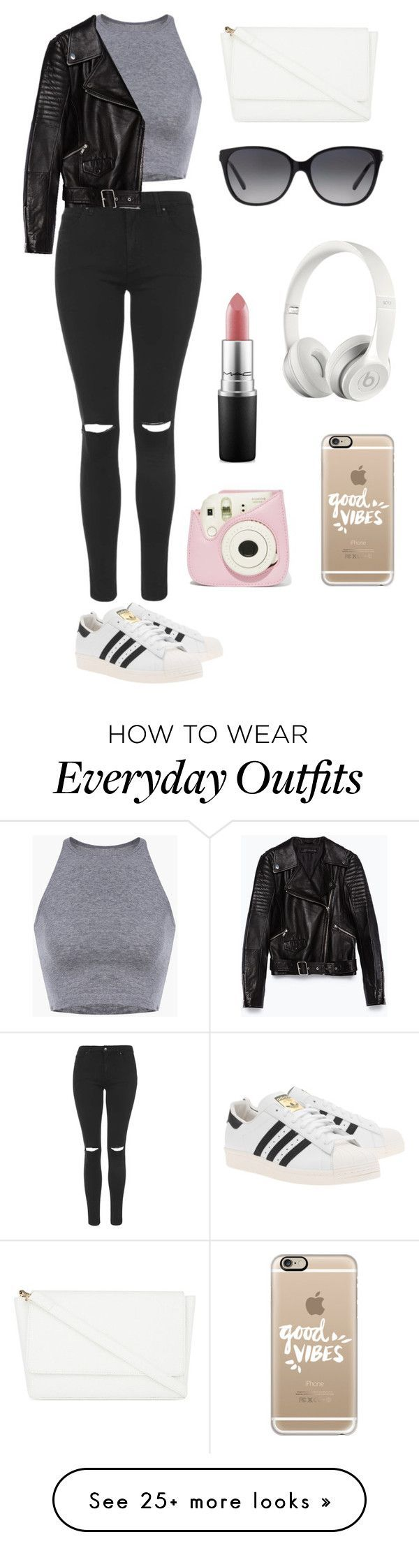 """""""Everyday outfit! #2"""" by theaankerstjerne on Polyvore featuring Topshop, Zara, adidas Originals, Skinnydip, Michael Kors, Casetify, Beats by Dr. Dre and MAC Cosmetics"""