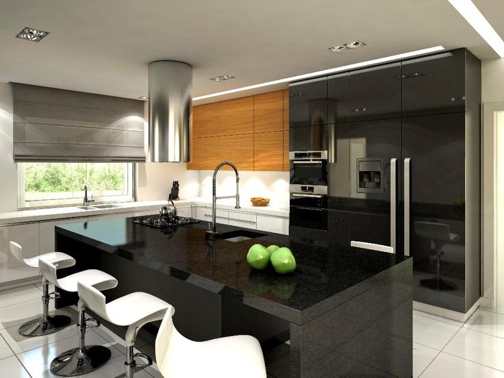 1000+ images about my kitchens moje kuchnie on Pinterest -> Kuchnia Z Wyspą Akwarium