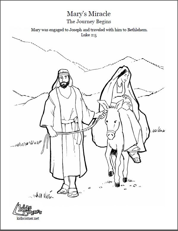 The Story Of Mary Marys Journey Coloring Page Audio Bible And Script