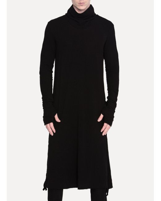 Lost & Found | Black High Neck Tunic for Men