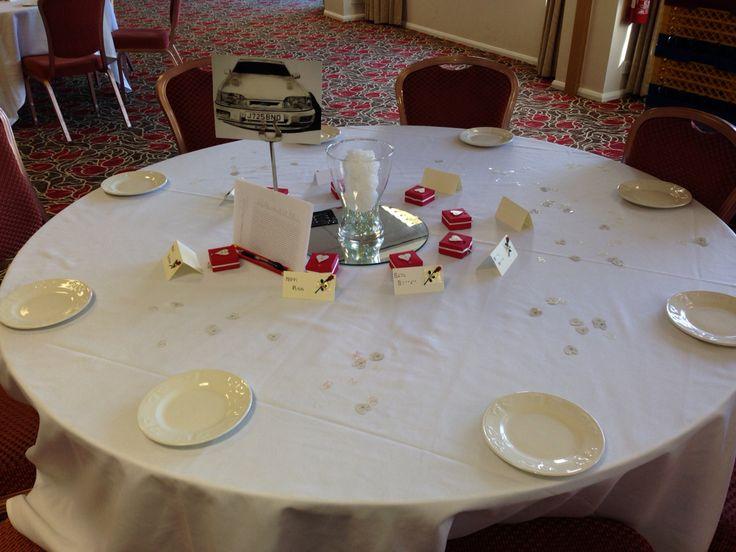 Tables laid