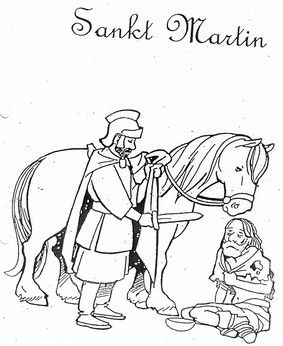 Saint Martin coloring page