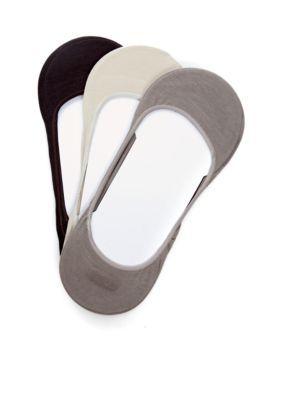 Calvin Klein Men's 3-Pack Low Cut Dress Liner Socks - Multi - M (10 - 13)