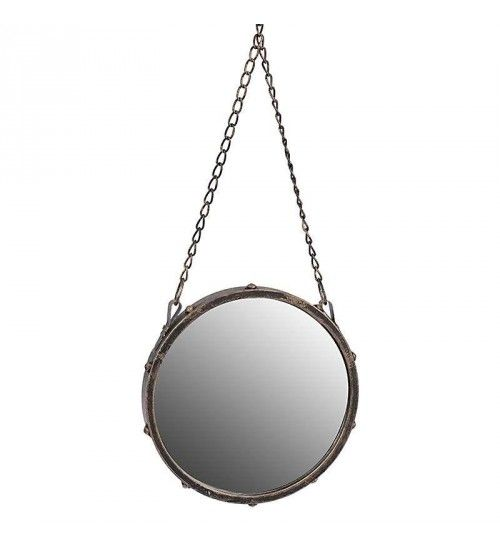 METAL WALL MIRROR IN BRASS COLOR 25X3X25_58