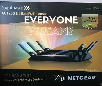 Everyone Streams: NETGEAR Nighthawk X6 Tri-Band Wifi Router Review