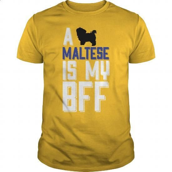 A MALTESE Is My BFF - #funny t shirts #kids hoodies. MORE INFO => https://www.sunfrog.com/Funny/A-MALTESE-Is-My-BFF-Yellow-Guys.html?60505