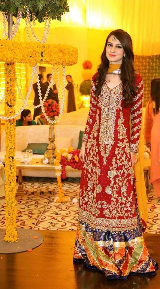 If you are not going to wear red as your bridal dress color, this may be a great idea. Wear a bit of red on your Mehndi day instead!!! How pretty is this dress!!!